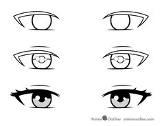 How to Draw a Beautiful Anime Girl Step by Step - AnimeOutline Girl Eyes Drawing, Anime Mouth Drawing, Manga Drawing Tutorials, Drawing Tutorials For Beginners, Anime Tutorial, Easy Anime Eyes, How To Draw Anime Hair, Manga Eyes, Sketches Tutorial
