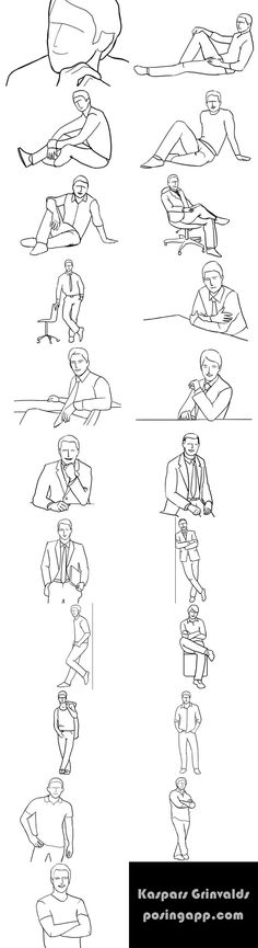 Posing Guide: Sample Poses to Get You Started with Photographing Men ideas for male poses...