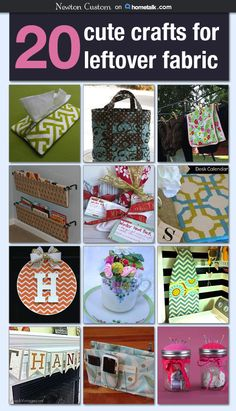 20 Cute Crafts for Leftover Fabric