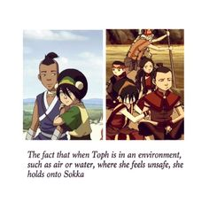 Tokka is real! ❤️ Toph and Sokka Avatar << eh, sometimes I ship this and others I think they'd be more bro/sis....