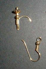 Brilliant miniature faucet make from earring...this is SO CLEVER and economical, too! How many of us have single earrings like this lying around?  Time to round 'em up for some real metal faucets!