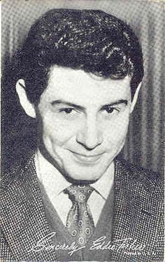 Arcade Photo Card of Eddie Fisher. These cards were obtained by purchase at Penny Arcades and were most usually sold from a coin operated machine