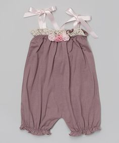 Look what I found on #zulily! Purple Flower Bubble Romper - Infant & Toddler #zulilyfinds