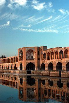 Khaju Bridge, Isfahan, Iran.
