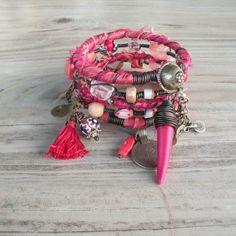 Silk Road Gypsy Bangle Stack -  Khiva - 5 Bohemian Bracelets by GypsyIntent