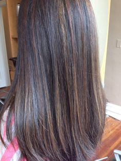 Chocolate highlights on black hair