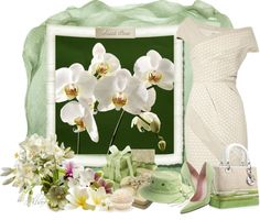 """White orchids"" by albaor ❤ liked on Polyvore"