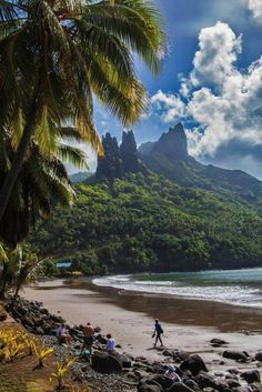 Nuku Hiva in the Marquesas islands, French Polynesia