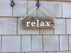 Relax Rustic sign by HomesteadDesign on Etsy https://www.etsy.com/listing/208437324/relax-rustic-sign