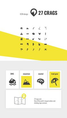 Icon design for 27crags.com // One of the world's largest online rock climbing topo services. // by www.sabrinaseidl.com just now
