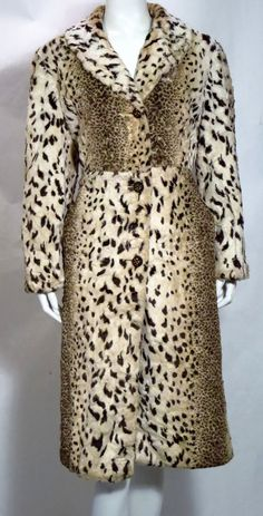 Vintage Rare Faux Ocelot Leopard Coat *