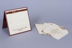 Csipkés esküvői meghívó, lace wedding invitation, brown wedding invitation Brown Wedding Invitations, Place Cards, Place Card Holders