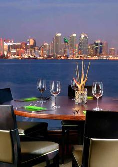 Island Prime and C-Level Lounge in San Diego, CA- really good seafood resto in the harbour, a bit expensive but good views