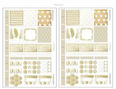 Free Mini Happy Planner Stickers Printable White And Gold Theme