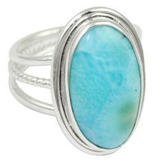 Larimar 925 Sterling Silver Ring Jewelry Size- 7.5 SR-1428 #Allisonsilverco
