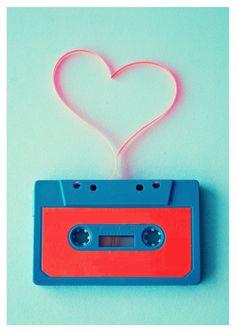 Love is like a mixtape   Liebe   Echte Postkarten online versenden…