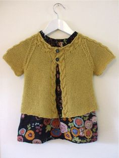 Knit child's cardigan sweater