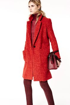 Monochrome red looks showing up this season. Nice. ZAC Zac Posen Fall 2015 Ready-to-Wear - Collection - Gallery - Style.com