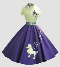 In the 1950s knee length skirts, with stockings were popular amongst young women. Summer dresses in floral fabrics with fitted tops and full skirts were a hit too. To make the full skirts stick out wide petticoats with nylon net, wiring or rope was used. Easy wear nylon was used in some dresses.