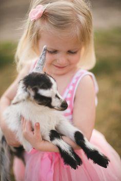 tamarakenyon:  Maylee and her goat http://tamarakenyon.com