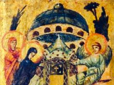"""STAR GATES: Does this image taken from the """"Relinquary Box"""" which contains stones from holy sites of Palestine, owned by the Vatican and believed to date from the 6th or 7th century show an OBJECT?? hovering above the Tomb of Jesus? It certainly does look unusual – or is it just a representation of the original Holy Sepulchre in Jerusalem? WE DON'T KNOW. WE NEED MORE RESEARCH. WHAT DO WE KNOW???"""