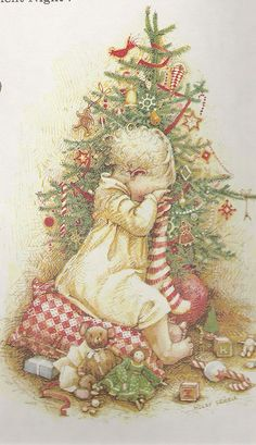 Who doesn't love Holly Hobbie! Today I thought I'd share some favorite Holly Hobbie Christmas images. Noel Christmas, Vintage Christmas Cards, Vintage Cards, All Things Christmas, Vintage Postcards, Christmas Stocking, Xmas, Holly Hobbie, Illustration Noel