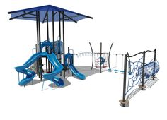 Climbers Quest Playground with Spiral Slides and Climbing Ropes | GameTime
