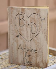 Personalized Guest Book Bridal Shower Advice (item E10101)