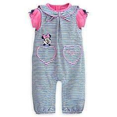 4b484944364 Disney Minnie Mouse Woven Romper Set for Baby