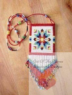 Bead Pattern Lakota Star Amulet panel Loom or by Outoftheflames, $4.00
