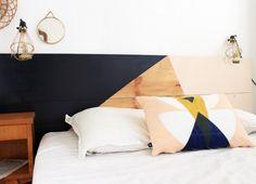 Tuto DIY : une tête-de-lit graphique