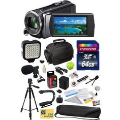 Sony HDR-CX200 HD Handycam Camcorder with 47St Photo Advanced Accessory Kit Incl