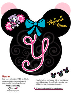Minnie Banner Y Party Banners