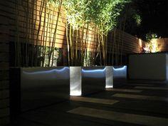 Uplighting of bushes - Hex Lighting Ltd. Tabletop Simulator, Uplighting Wedding, Driftwood Furniture, Outdoor Pictures, Cool Lighting, Lighting Ideas, Family Garden, Lights Background, Gardens