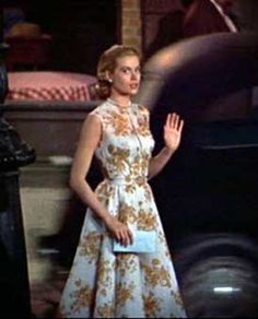 Image result for grace kelly rear window printed dress