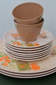 LENOX WARE Vintage Melmac Dish Set by Oldgreenlion on Etsy, $19.00