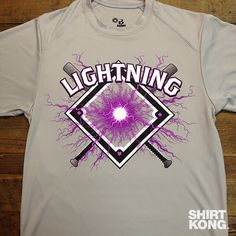 """Baseball, volleyball, basketball, even kickball teams should be rocking our shirts during the summer leagues. Make your """"Tuesday night beer league"""" team look like real professionals with custom designed team uniforms! #LightningBaseball #SummerSports #ScreenPrinting #PrintLife"""