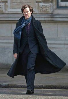Ben on the Sherlock set