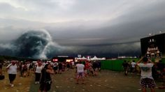 Demonic Face Appears In Clouds At Rock Festival?