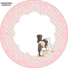 Kit Festa de Casamento Detalhes Rosa Para Imprimir Grátis