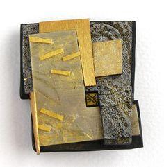 Svalbard 1  Brooch   polymer, acrylic, gold  Tory Hughes©2012  2.25″x2″x.5″