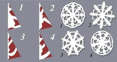 DIY Paper Medallions Miniaturized & DIY Paper Snowflakes Here To Beautify Your Holidays [Detailed Guide+Template] Paper Snowflake Patterns, Snowflake Template, Snowflake Craft, Paper Snowflakes, Snowflake Designs, Easy Christmas Crafts, Noel Christmas, Simple Christmas, Christmas Snowflakes