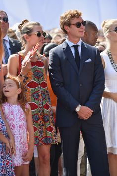 Charlotte Casiraghi Photos - Charlotte Casiraghi and Pierre Casiraghi attend the First Day of the Anniversary on the Throne Celebrations on July 2015 in Monaco, Monaco. - Prince Albert of Monaco Celebrates 10 Years on the Throne Princess Stephanie, Princess Caroline, Charlotte Casiraghi, Celebrity Photos, Celebrity Style, Prince Albert Of Monaco, Site Mode, Monaco Royal Family, Costume
