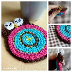 Crochet Double Faced Owl Coaster Pattern