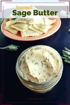 Browned Sage Butter is so simple but it adds a delicious layer of complexity to vegetables, pasta, bread or even meat and fish. Sage Compound Butter recipe (How To Make Gravy Without Meat) Flavored Butter, Homemade Butter, Butter Recipe, Recipe Mix, Sage Recipes, Great Recipes, Favorite Recipes, Cheese Recipes, Delicious Recipes