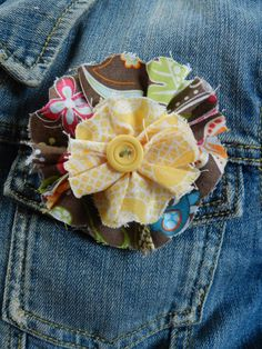 fabric flower pin on etsy!