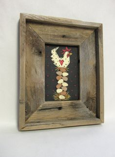 Primitive Folk Art Chicken Sitting on Eggs by barbsheartstrokes