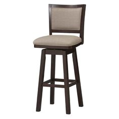 Padded Back Wood Swivel Bar Stool in Counter Stools With BacksCounter Height