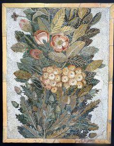https://flic.kr/p/oHE1Sz   M.A.N. (M. Arqueológico Nacional) Madrid   Mosaico floral Piedra caliza y pasta vítrea. S. I d.C. Italia Floral mosaic Limestone and vitreous paste. 1st century A.D. Italy
