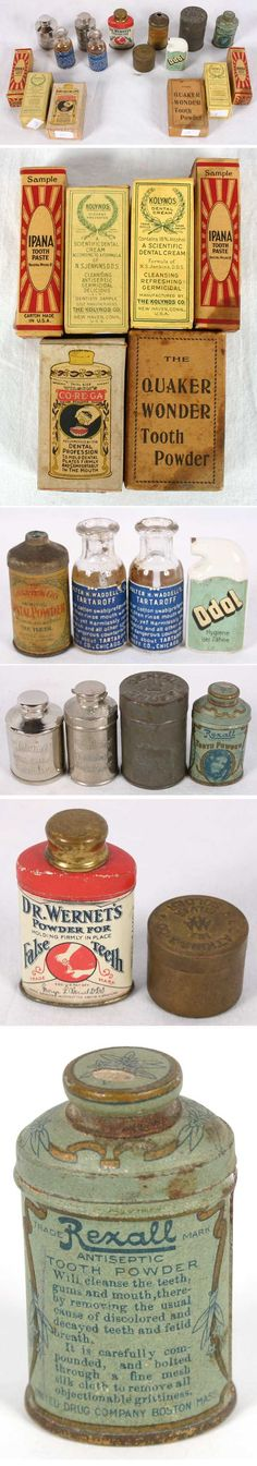 Early 20th century, dental advertising products